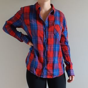 2/$15 ❤ Blue and Red Flannel Shirt